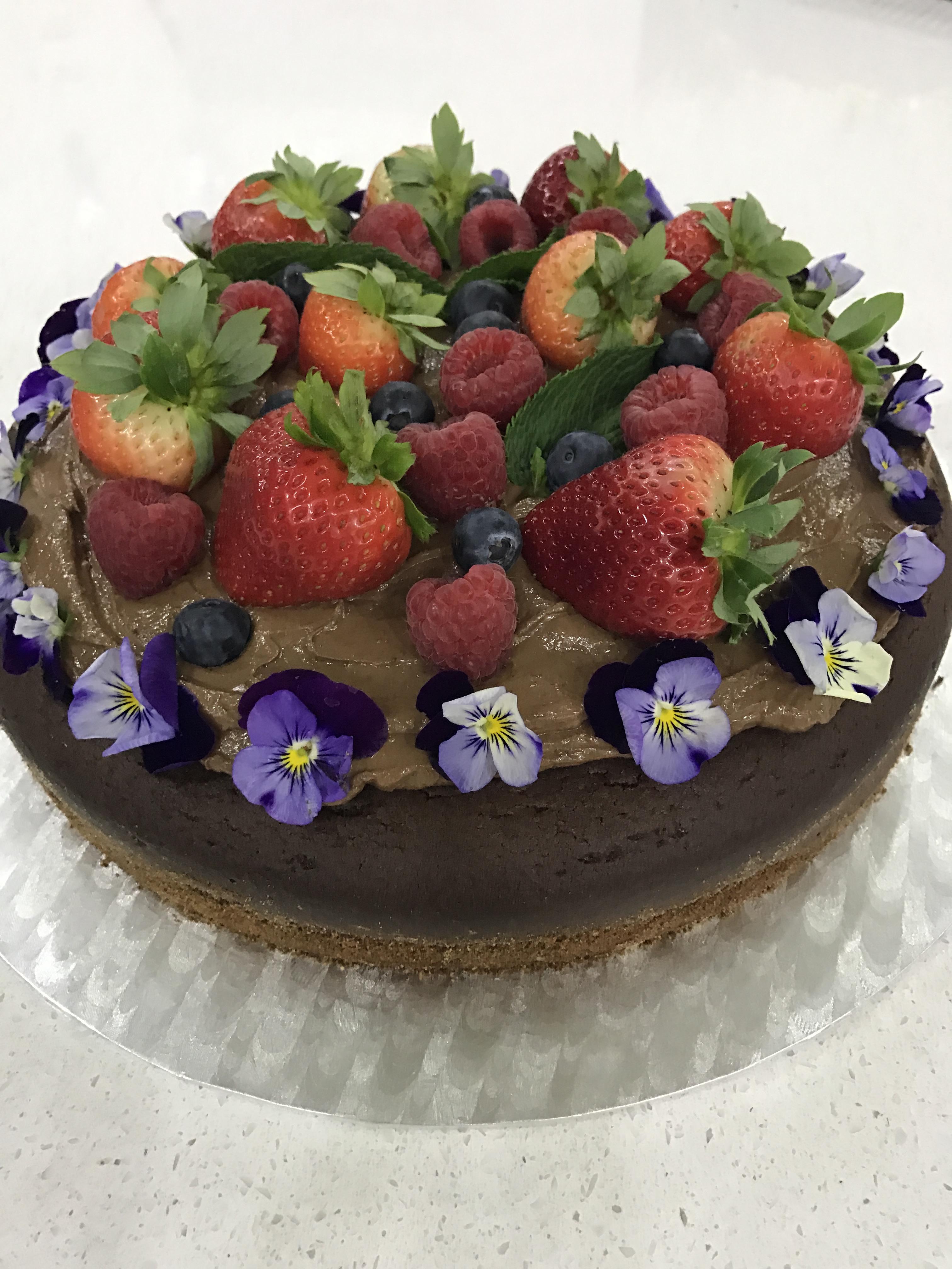 1 Layer Naked Deep Chocolate Cake Monis Healthy Choice